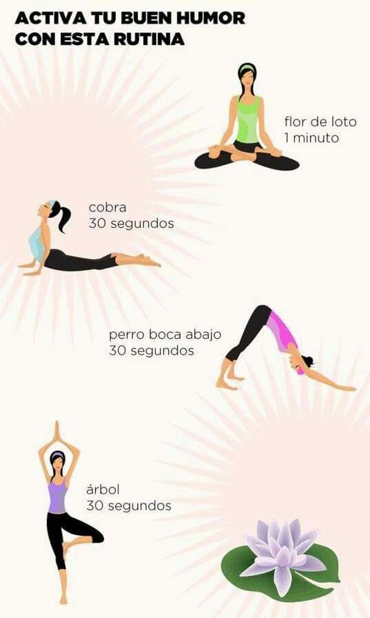 Yoga routine to activate your good mood. - Yoga is an activity that you can practice anywhere and will put you in touch with your own being. Yoga Kundalini, Yoga Meditation, Yoga Hatha, Meditation Space, Iyengar Yoga, Yoga Routine, Yoga Mantras, Hata Yoga, Fitness Del Yoga