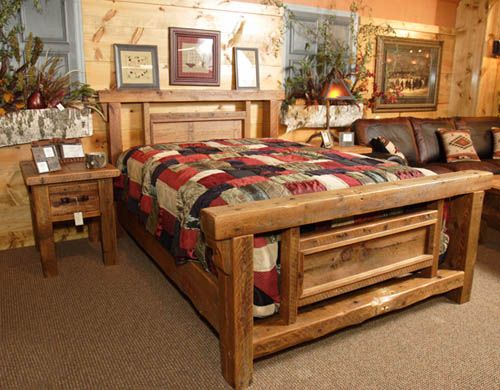 Rustic Wood Bedroom Furniture 7 best log furniture beds images on pinterest | rustic bedrooms