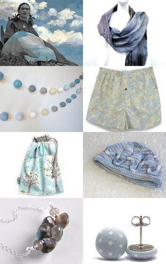 Elegant in Grey and Blue by Anna Ilinykh on Etsy
