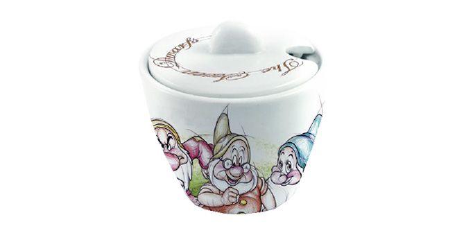 """ZUCCHERIERA """"I 7 Nani"""" - Disney - EGAN s.r.l.  Zuccheriera in ceramica.  DImensioni: 9x9cm"""