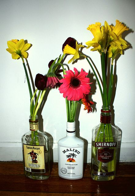dont be surprised when i try to regift our empty liquor bottles as flowers vases :D