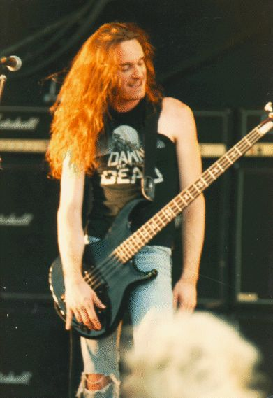 Cliff Burton (1962 - 1986) Bass player for Metallica, he was the driving force of the band in the early days but was killed when their tour bus was involved in a wreck in Sweden.