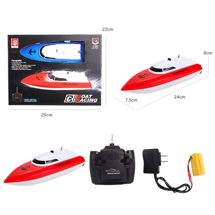 Kids Remote Control RC Super Mini Speed Boat High Performance Boat Toy RC Boat High Speed Racing Boat KidsToys Color at Random