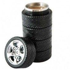 Gumi abroncs termoszos bögre az autók és a kávé szerelmeseinek, ajándék ötlet autószerelőknek