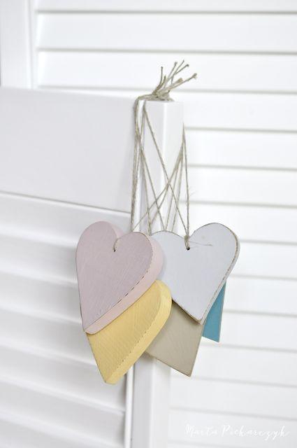 Wood&Crafts - kreatywne malowanie: Pastelowe serduszka