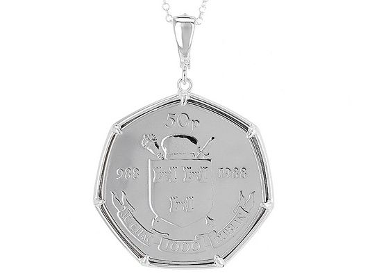 Artisan Collection of Ireland™ Millenium 50P Coin Sterling Silver