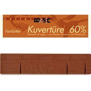 zotter Schokoladen Manufaktur: Kuvertüre 60%
