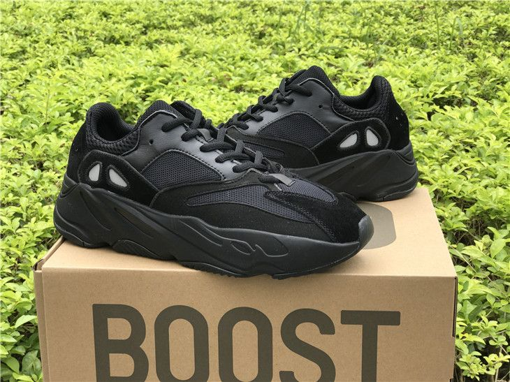 406d4679a91db Adidas Yeezy Wave Runner 700 Triple Black Boost