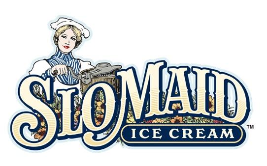 SLO Maid Ice Cream logo by Pierre RademakerIdentity, Slo Maid, Maid Ice, Ice Cream Logo, Mariee Logo, Logo 商標, Mary Logo, Cream Ideas