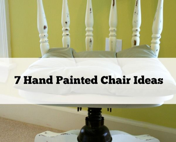 I've got 7 Hand Painted Chair Ideas for you! All different and easy to recreate. Check out the befores and l hope they inspire you to make over your old chairs!