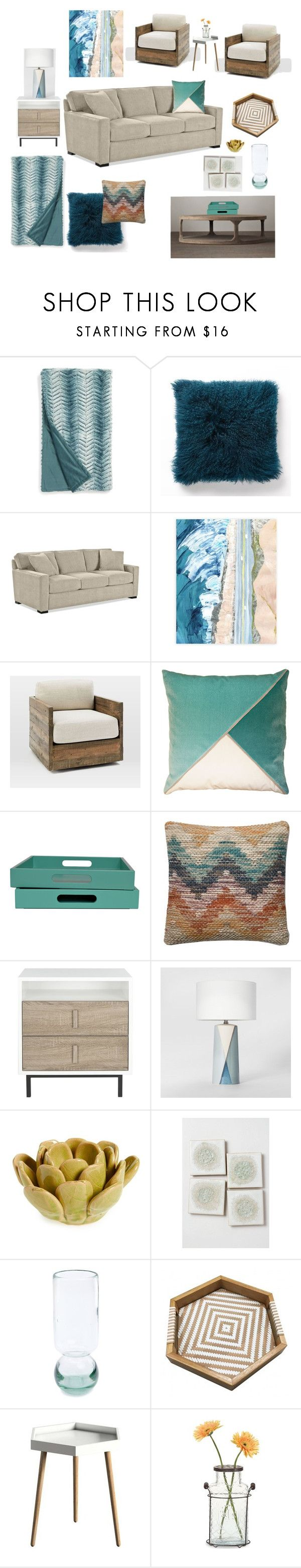 """""""Corte Madera - Updated Living Room"""" by noelkvis on Polyvore featuring interior, interiors, interior design, home, home decor, interior decorating, Nordstrom, West Elm, Project 62 and HomArt"""