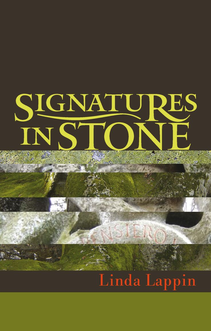 Book cover for first paperback edition SIGNATURES IN STONE : A Bomarzo Mystery  by Linda Lappin