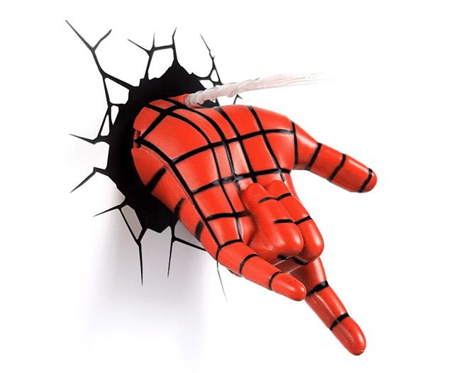 These 3D Deco Superhero Spiderman Wall Light will help you see in the dark. Just place them wherever you need a little more light at night (battery powered)