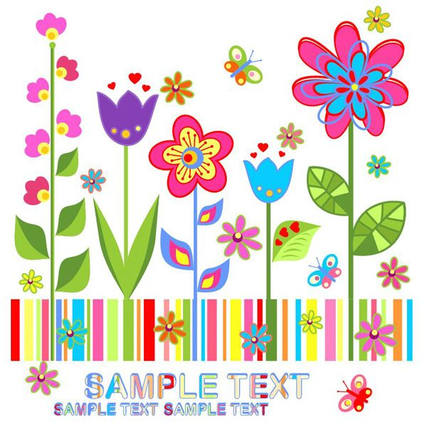 Colorful Spring Floral Garden Background - http://www.welovesolo.com/colorful-spring-floral-garden-background/