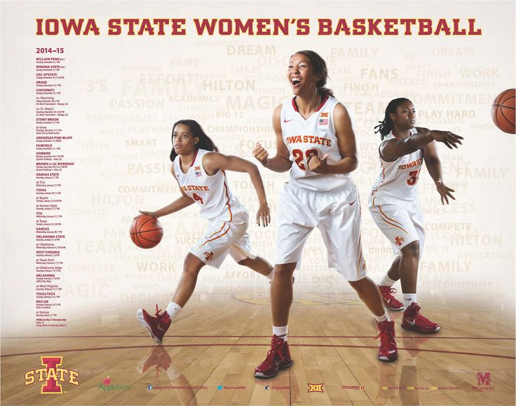 2014-15 Iowa State Women's Basketball Schedule Poster