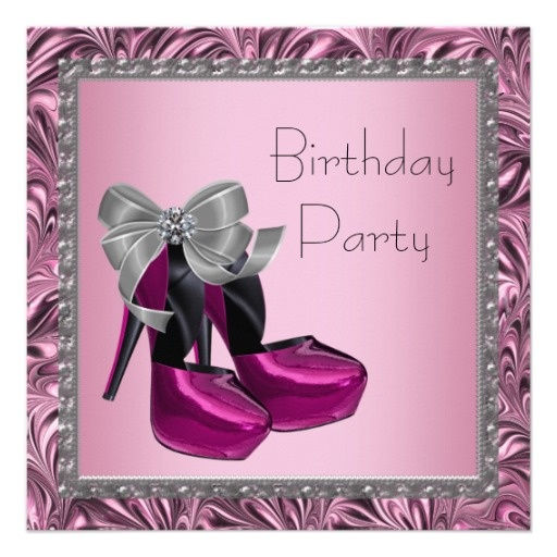 16 best High Heel Shoe Invitations images on Pinterest High heels