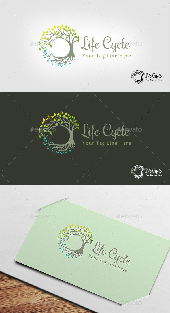 Life Cycle Logo — Vector EPS #leaves #environment • Available here → https://graphicriver.net/item/life-cycle-logo/13132293?ref=pxcr