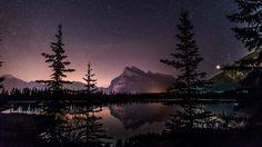 sky lake starry night 4k ultra hd wallpaper