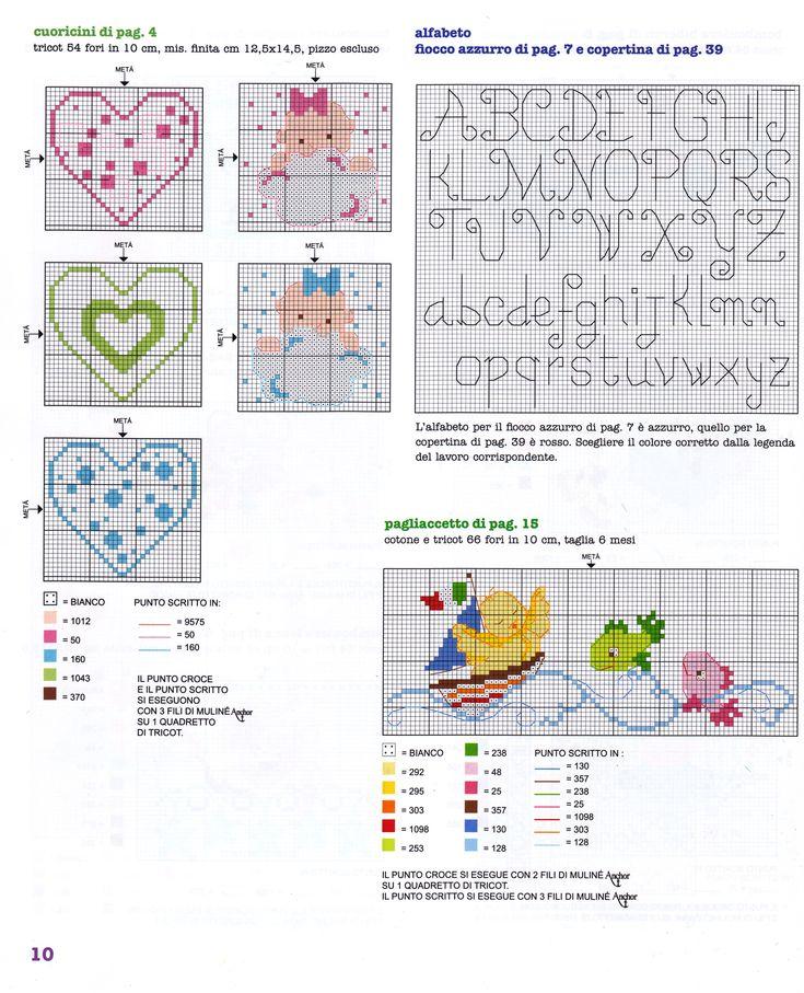 bpmboniere sacchettini nascita (3) - magiedifilo.it punto croce uncinetto schemi gratis hobby creativi