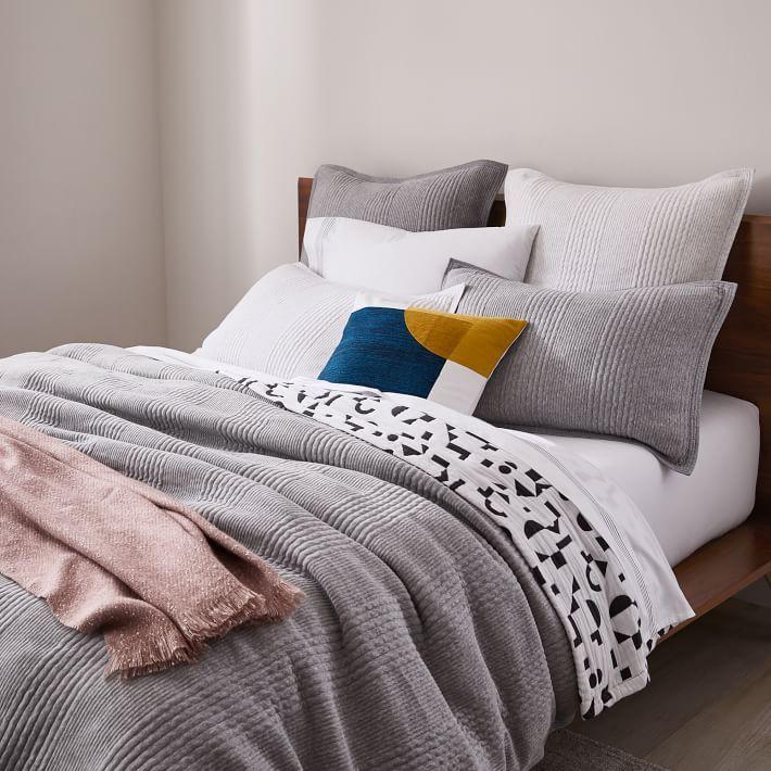 Cotton Cloud Jersey Duvet Cover Shams Medium Heather Gray West Elm In 2020 Duvet Covers Organic Bedding Duvet