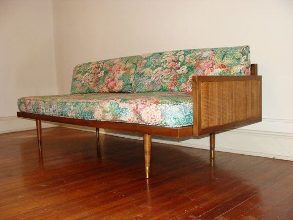 Mid Century PAIR of Floating Daybeds Sofa Matching 1950s ...