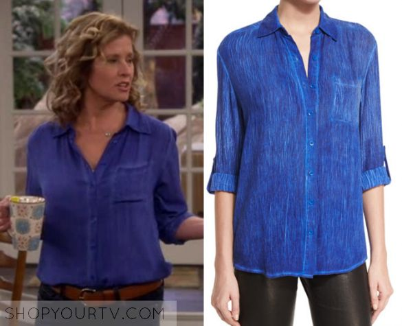 """Last Man Standing: Season 6 Episode 17 Vanessa's Blue Washed Shirt 