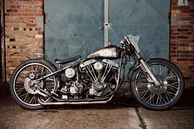 Raw and uncompromising: this barn find Harley-Davidson FXS Super Glide has been transformed into a vintage-style racer.