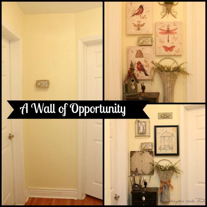 Small hallway wall gallery.