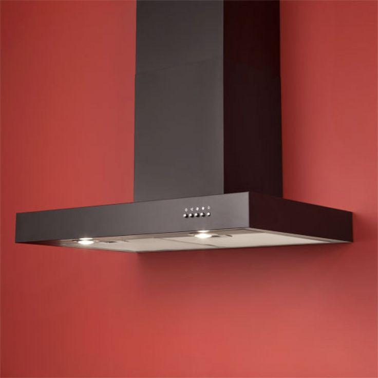 "Maestro Series 36"" Wall-Mount Stainless Steel Range Hood - 600 CFM - Black Powder Coat - Range Hoods - Kitchen"