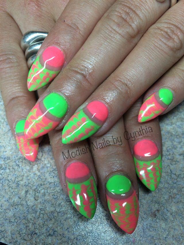 42 best Neon Nail Art images on Pinterest   Art gallery, Nail art ...