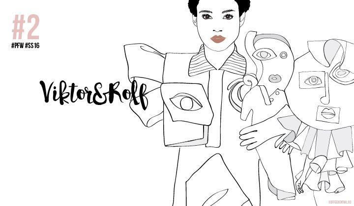 PARIS FASHION WEEK SS16: MY SKETCHY TOP 3 #ViktorandRolf #pfw #ss16 #fashionillustration #ChiaraRigoni