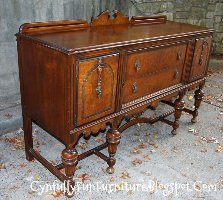 Walnut Buffet, from the 1920's is Enchanting and Elegant