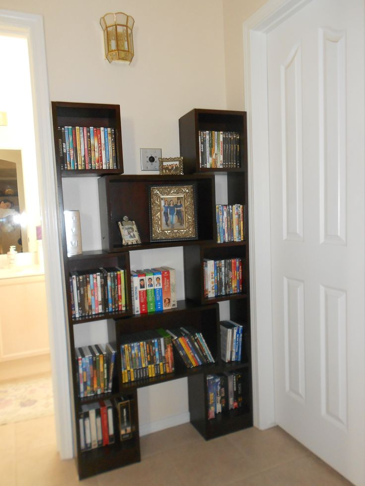 Downsized Puzzle Bookcase for DVD Storage   Do It  Easy Diy  25 best SHELVING images on Pinterest   Shelving  Shelf supports  . Easy Diy Dvd Shelf. Home Design Ideas