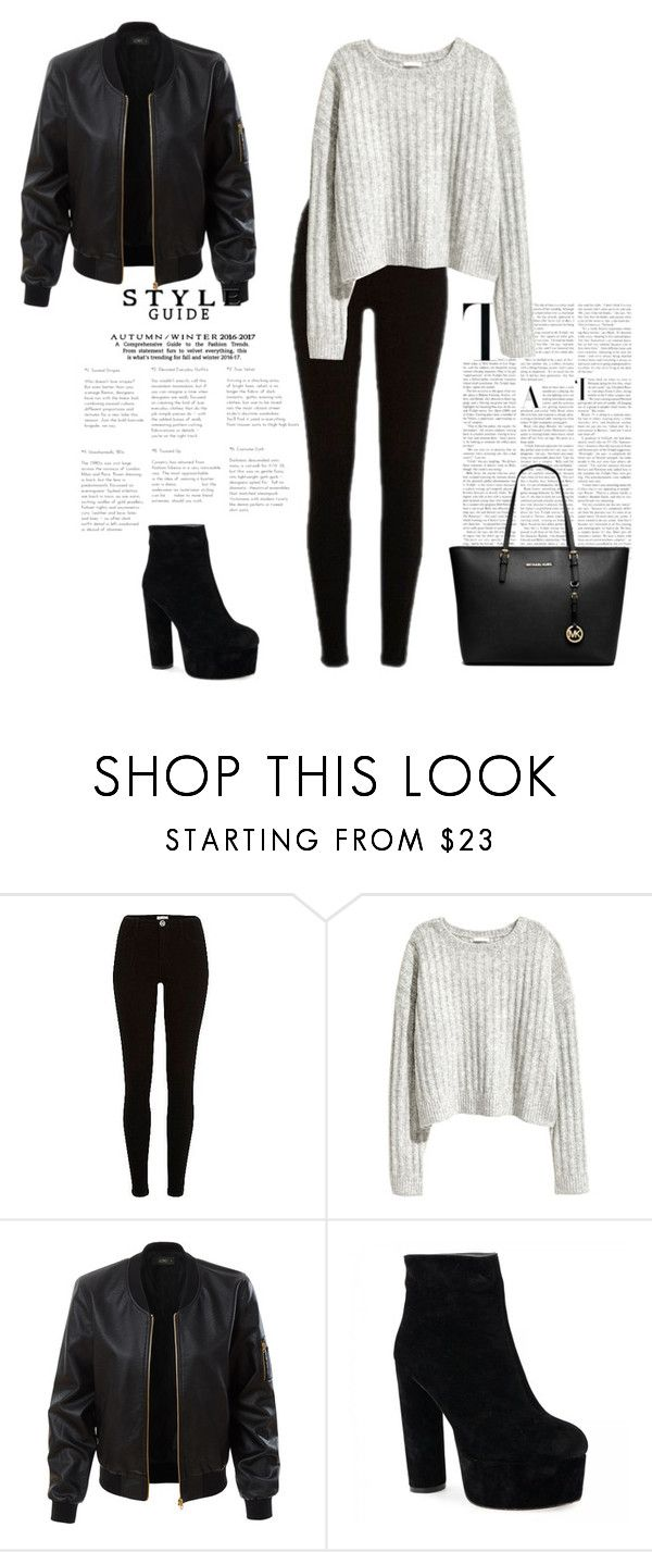 """""""Untitled #263"""" by natalyholly on Polyvore featuring River Island, LE3NO and Michael Kors"""