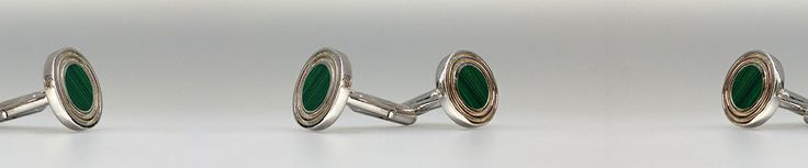 Malachite cufflinks and Sterling silver