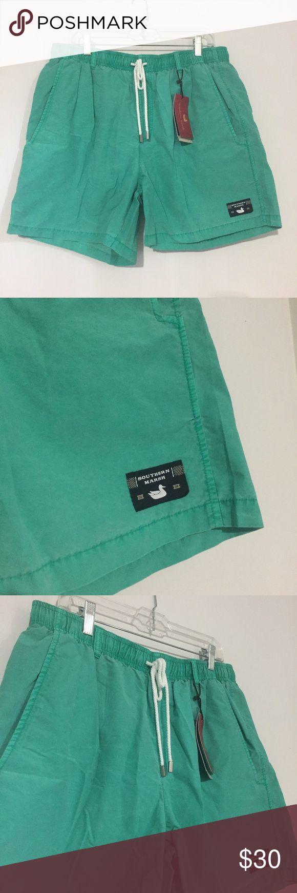 Southern Marsh Bathing Suit Great green color! Men's bathing suit by Southern Marsh, NWT!! Southern Marsh Swim Swim Trunks
