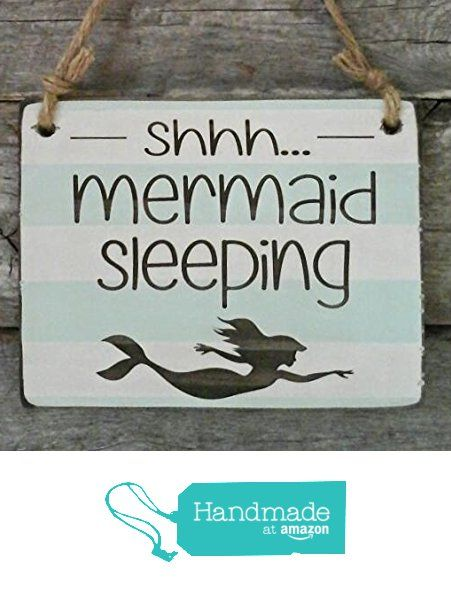 Shhh... Mermaid Sleeping - Small Hanging Sign - Baby Sleeping Sign from Edison Wood http://www.amazon.com/dp/B01CTIL964/ref=hnd_sw_r_pi_dp_jvF6wb1RK2VNK #handmadeatamazon