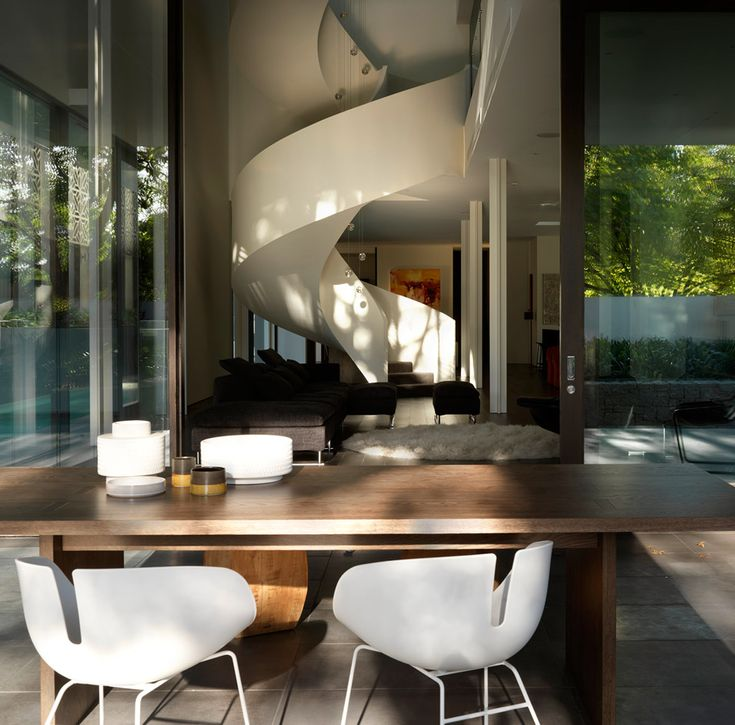 home interior design melbourne. the towering spiral staircase forms a stunning sculptural center piece in this luxurious contemporary home designed by robert mill architects. interior design melbourne i