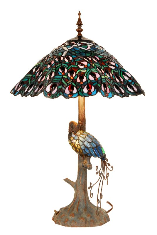 Tiffany Lamps For Sale | Tiffany table lamp peacock