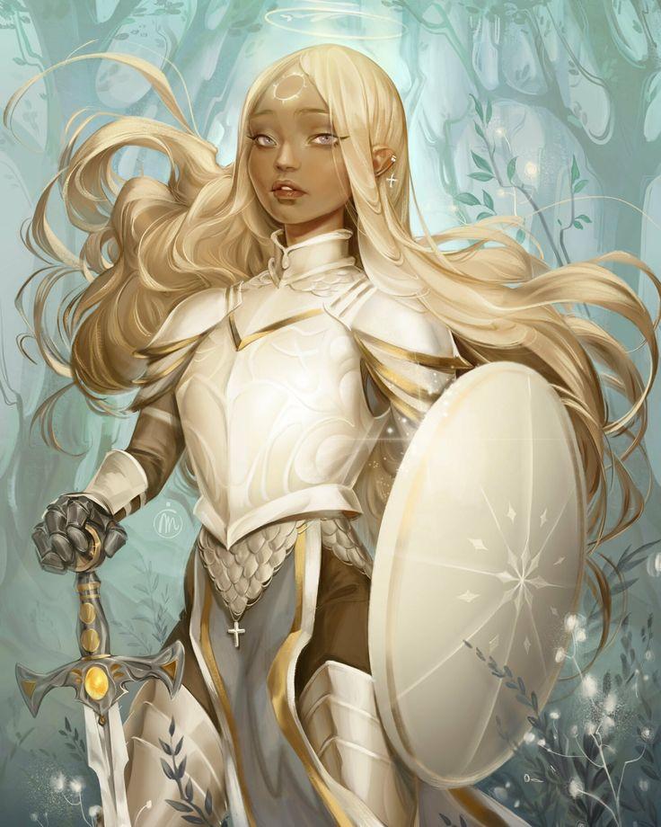 ArtStation - Paladin of Light, Mioree . in 2020 | Fantasy girl, Paladin, Female characters