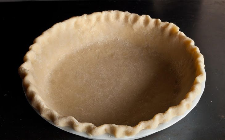 Easy Pie Crust Recipe Desserts with all-purpose flour, fine salt, granulated sugar, unsalted butter, ice water