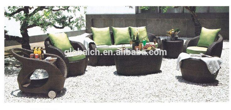 Cheap outdoor muebles de mimbre rattan sofá modular