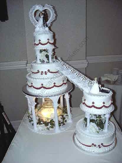 Wedding Cake With Stairs Fountains 16 Wedding