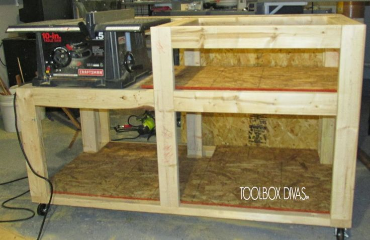 Free Table Saw Workbench With Wood Storage Plans Simple