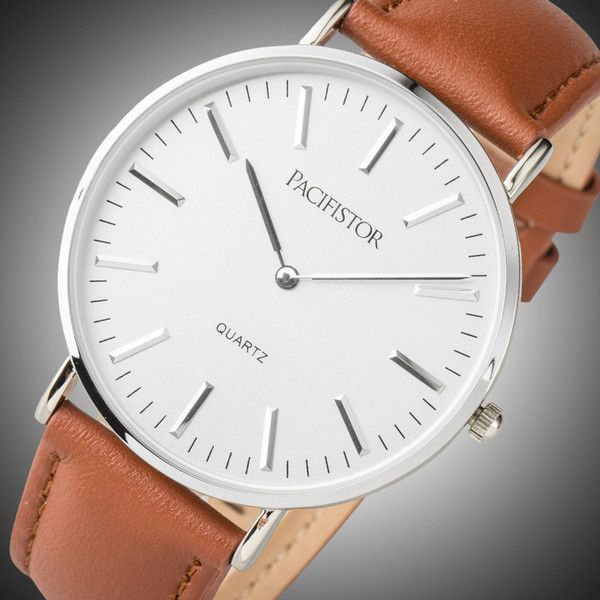 8 best gift reference images on pinterest quartz watches brown mens quartz watch casual brown leather band knick of time negle Images