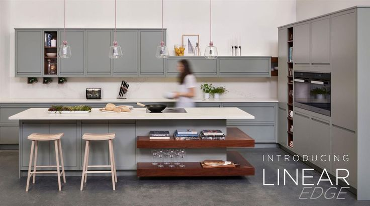 Introducing Linear Edge, our modern and contemporary handleless kitchen design