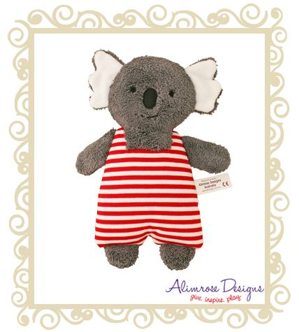 Alimrose Designs Koala toy rattle. Soft and sweet - every Aussie tot should have one and a great Aussie baby gift to send overseas too! Approx  $29.95