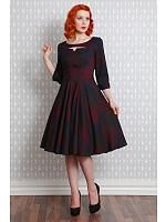 Chrissie May Dress, Burgunder ruter