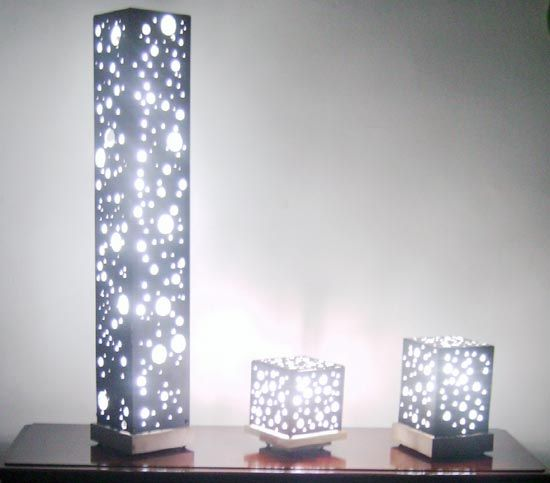 I love these lamps. These one are made out of MDF, but I would love to see it plasma cut out of steel or any other metal. #lamps