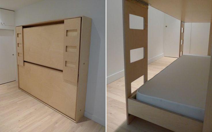 Beliche dobrável especial para quartos pequenos